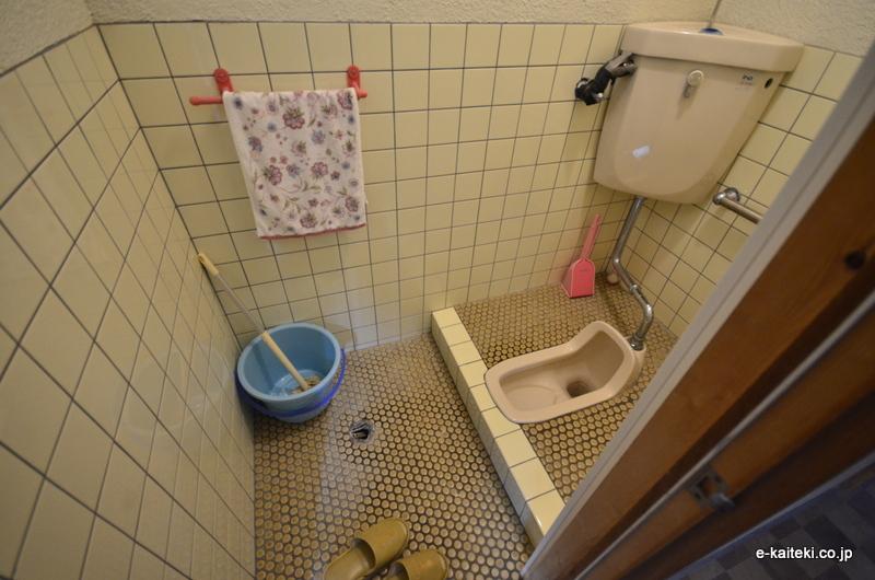 和式トイレ、施工前の状態