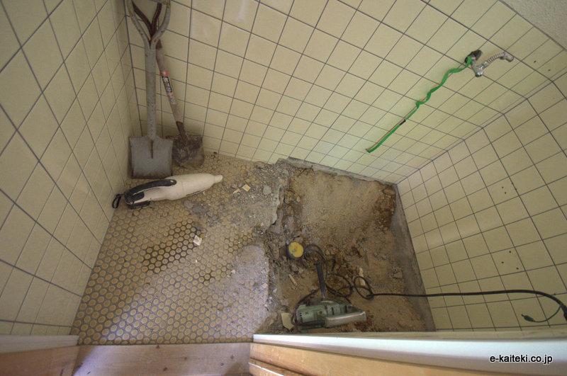トイレリフォーム、排水位置
