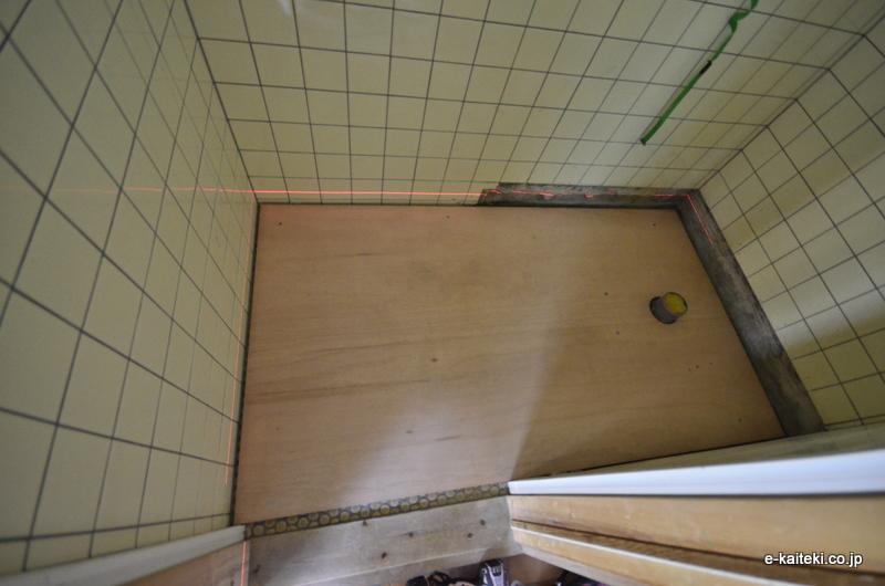 トイレ床 下地工事