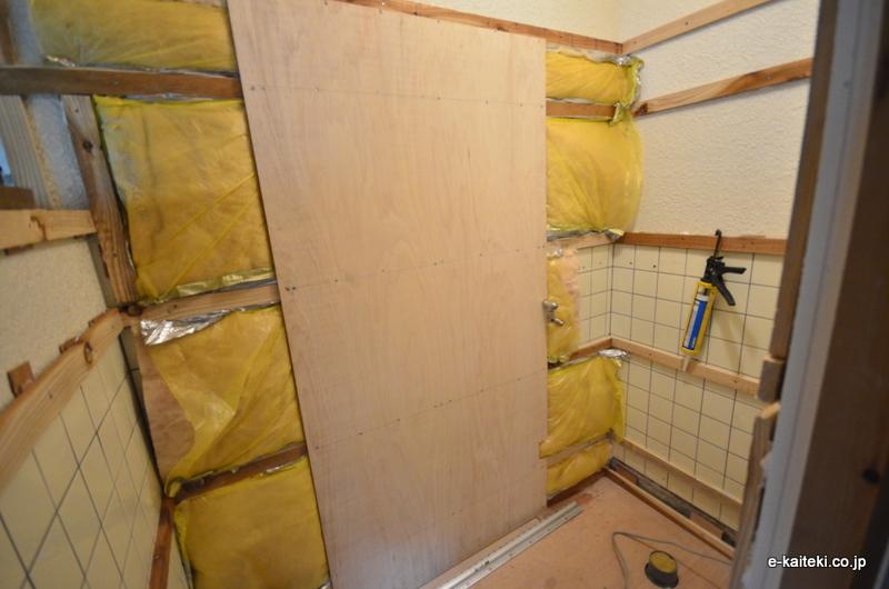 トイレ 断熱リフォーム 壁の下地
