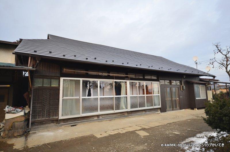 【金属屋根材 ガルバニウム・カラー鋼板】完成写真